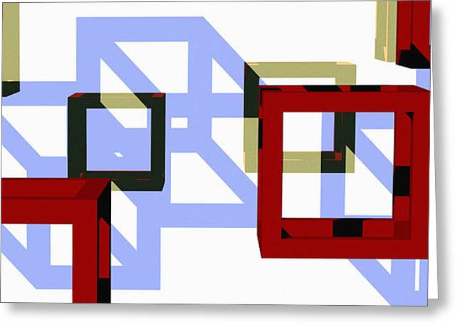 Boxed In Greeting Card by Richard Rizzo