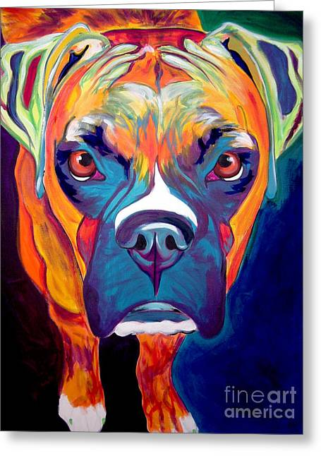 Alicia Vannoy Call Paintings Greeting Cards - Boxer - Harley Greeting Card by Alicia VanNoy Call