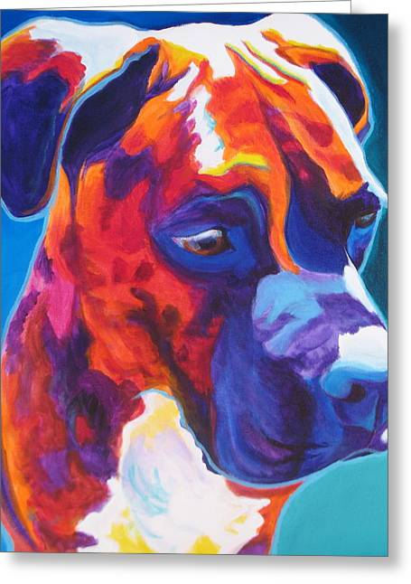 Dawgart Greeting Cards - Boxer - Jax Greeting Card by Alicia VanNoy Call