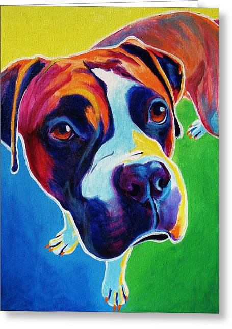 Alicia Vannoy Call Greeting Cards - Boxer - Leo Greeting Card by Alicia VanNoy Call