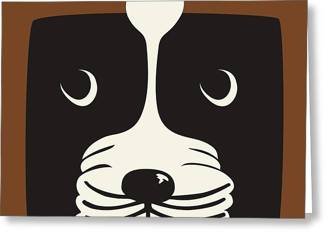 Boxer Greeting Card by Laura Brightwood