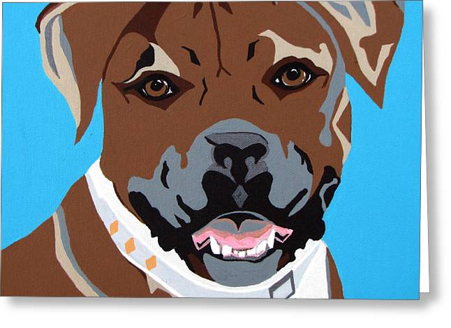 Boxer Greeting Card by Slade Roberts