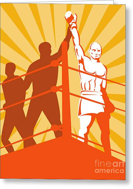 Heavyweight Digital Art Greeting Cards - Boxing Champion Greeting Card by Aloysius Patrimonio