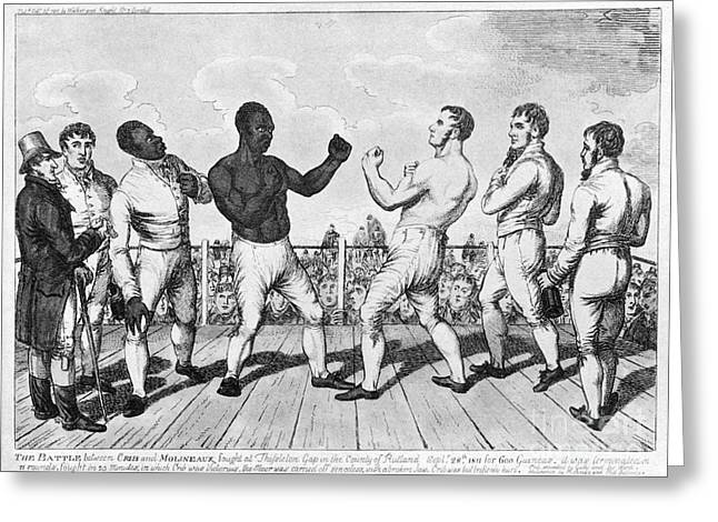 Molineaux Greeting Cards - BOXING: CRIBB v. MOLINEAUX Greeting Card by Granger