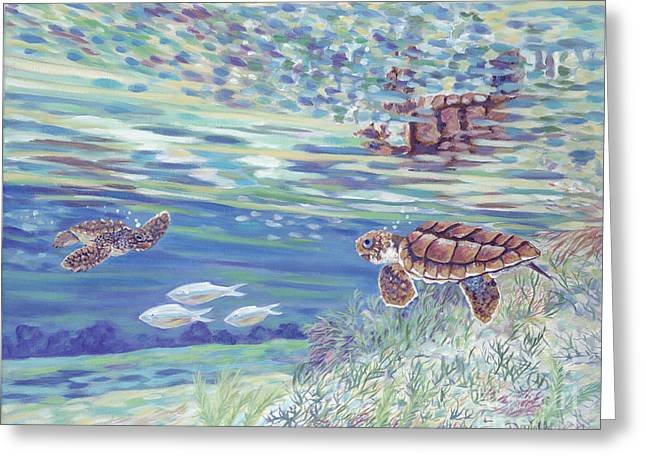 Gumbo Greeting Cards - Boy Meets Girl Greeting Card by Danielle  Perry