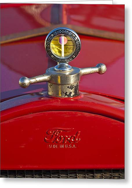 Car Mascots Greeting Cards - Boyce MotoMeter Hood Ornament Greeting Card by Jill Reger