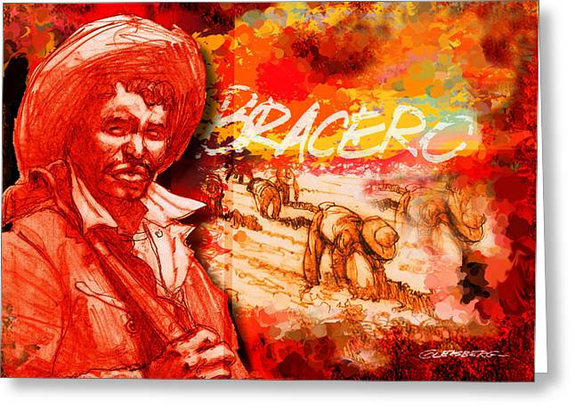 Stoops Greeting Cards - Bracero Greeting Card by Dean Gleisberg