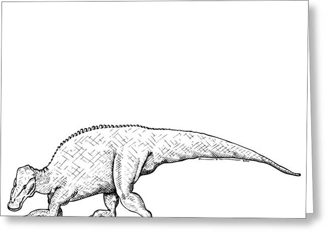 Brachylophosaurus - Dinosaur Greeting Card by Karl Addison