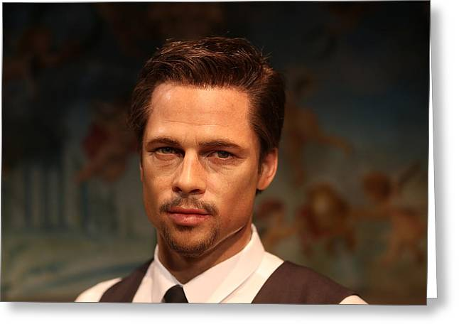 Basterds Greeting Cards - Brad Pitt - William Bradley Brad Pitt - actor-  Greeting Card by Lee Dos Santos