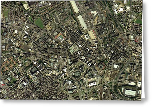 West Yorkshire Greeting Cards - Bradford, Uk, Aerial Image Greeting Card by Getmapping Plc