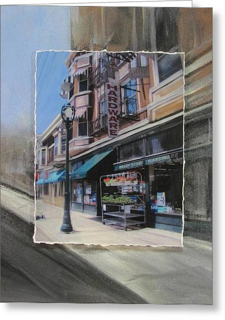 Hardware Greeting Cards - Brady Street - Hardware layered Greeting Card by Anita Burgermeister