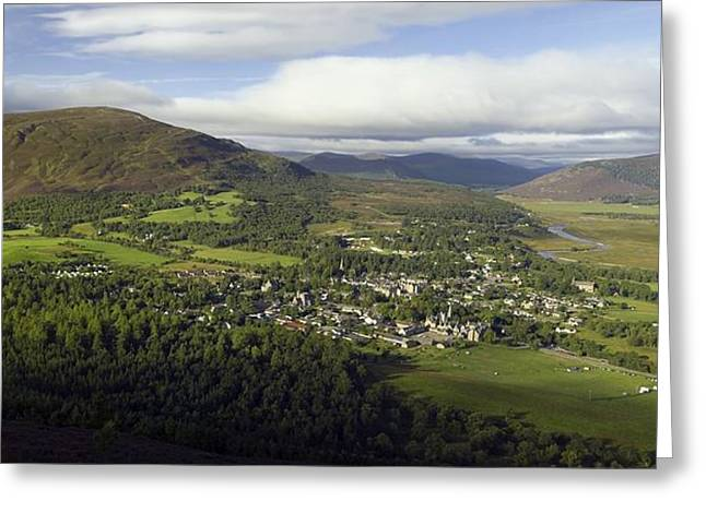 River Dee Greeting Cards - Braemar Village, Scotland, Uk Greeting Card by Duncan Shaw