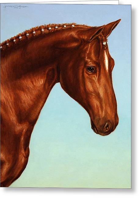 Ranch Paintings Greeting Cards - Braided Greeting Card by James W Johnson