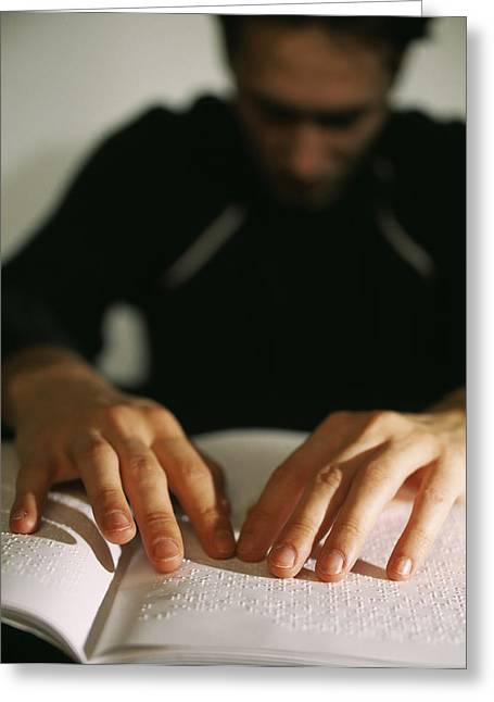 Disability Photographs Greeting Cards - Braille Greeting Card by Lawrence Lawry