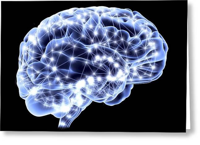 Neural Greeting Cards - Brain, Neural Network Greeting Card by Pasieka
