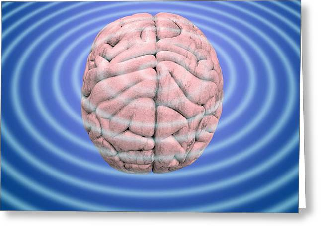 Brain Waves, Conceptual Image Greeting Card by Victor De Schwanberg