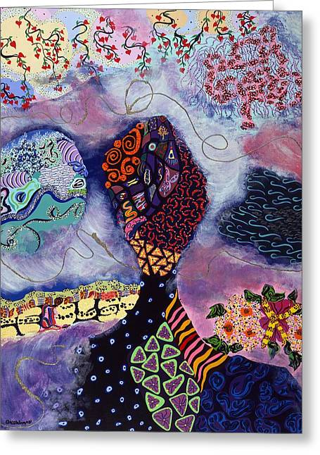Human Spirit Greeting Cards - Brainstorming Greeting Card by Gale Goldwoman