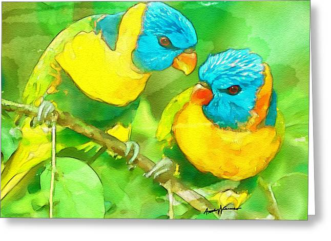 Conversations Mixed Media Greeting Cards - Branch Office Greeting Card by Anthony Caruso