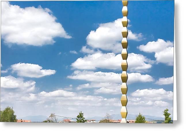Brancusi's Infinite Column Greeting Card by Gabriela Insuratelu