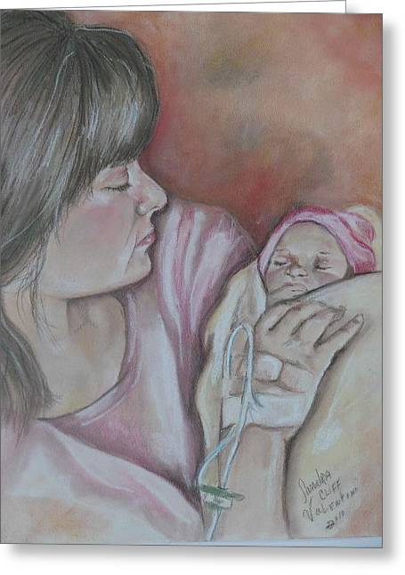 Mother Gift Pastels Greeting Cards - Brand New Greeting Card by Sandra Valentini