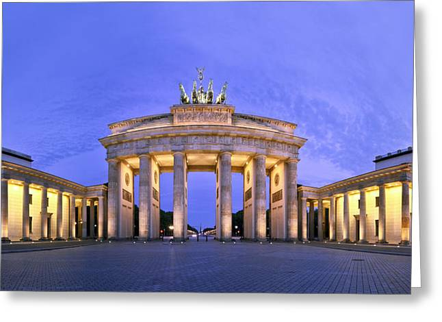 Brandenburger Tor Berlin Greeting Card by Greta Schmidt