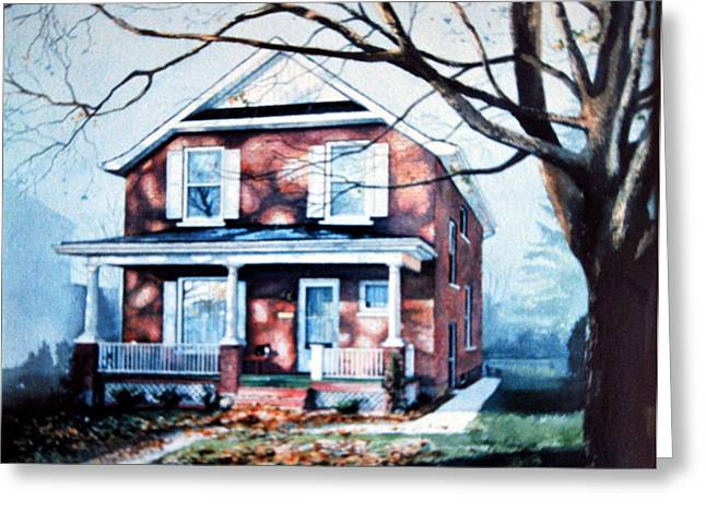 Photograph Of Artist Paintings Greeting Cards - Brant Avenue Home Greeting Card by Hanne Lore Koehler