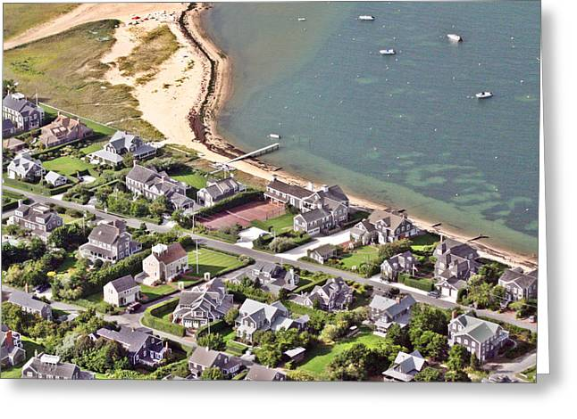 Clay Court Greeting Cards - Brant Point House Nantucket Island 4 Greeting Card by Duncan Pearson