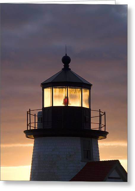 New England Lighthouse Photographs Greeting Cards - Brant Point Lanthorn - Nantucket Greeting Card by Henry Krauzyk