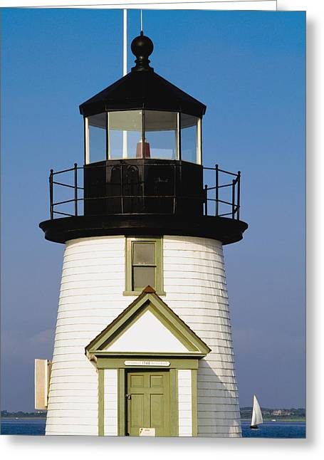 Brant Point Lighthouse Greeting Card by Axiom Photographic