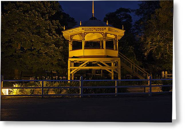 Walhalla Greeting Cards - Brass Band Stage Greeting Card by Craig Jenner