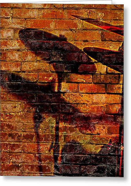 Cymbals Greeting Cards - Brassy Shadow Greeting Card by Chris Berry