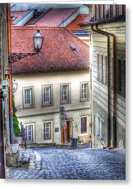Historic Buildings Greeting Cards - Bratislava. As The City Sleeps Greeting Card by Juli Scalzi