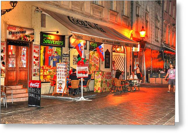 Malmo Digital Art Greeting Cards - Bratislava Grocery Greeting Card by Barry R Jones Jr
