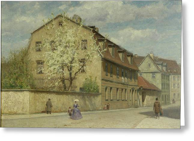 1813 Greeting Cards - Braune Weimar Greeting Card by Christoph Martin Weiland