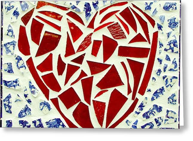 Bravery Glass Art Greeting Cards - BraveHeart Greeting Card by Diane Morizio