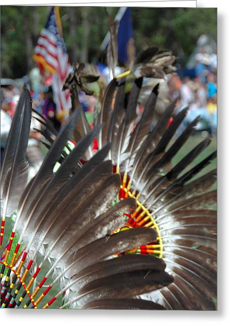 Northwestern Indian Greeting Cards - Bravery Greeting Card by Dan Fulk