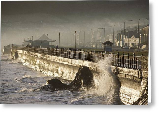Ground Level Greeting Cards - Bray Promenade, Bray, County Wicklow Greeting Card by The Irish Image Collection
