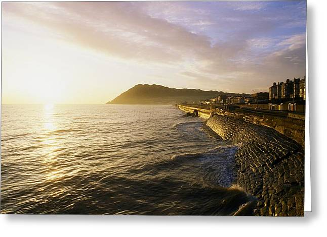 Bray Promenade, Co Wicklow, Ireland Greeting Card by The Irish Image Collection