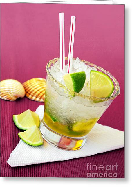 Popular Fruit Greeting Cards - Brazilian Cocktail Greeting Card by Carlos Caetano