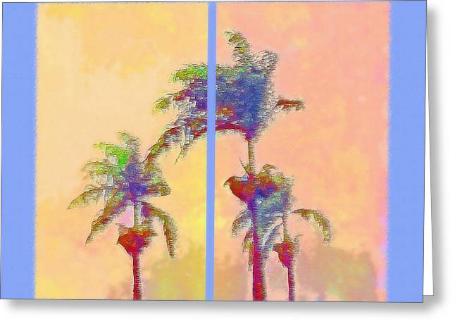 Breezy Mixed Media Greeting Cards - Brazilian Monsoon Sunset Diptych Greeting Card by Steve Ohlsen