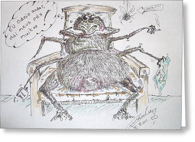 Brazilian Wandering Spider Greeting Card by Paul Chestnutt