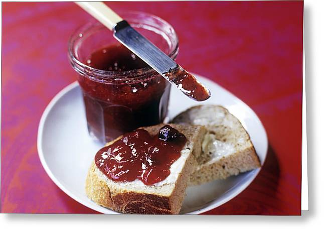 Bread And Jam Greeting Card by David Munns