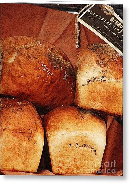 Bread Loaf Greeting Cards - Bread Basket Greeting Card by AdSpice Studios