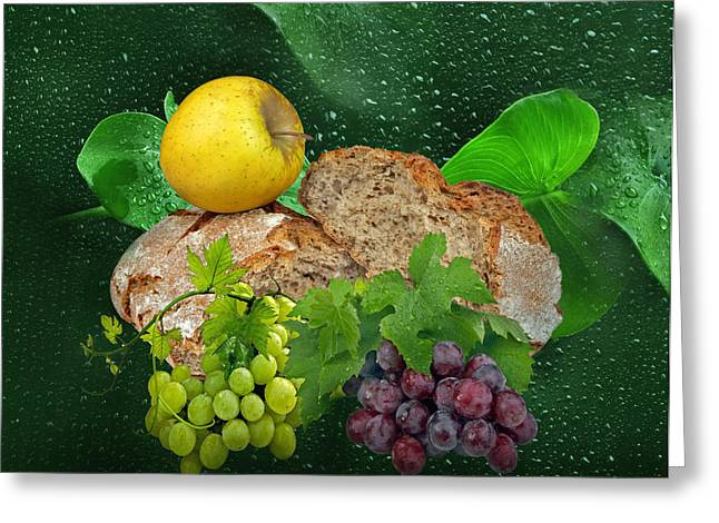 Vine Leaves Greeting Cards - Bread Greeting Card by Manfred Lutzius