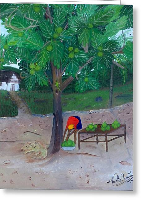 Lame Greeting Cards - Breadfruit Greeting Card by Nicole Jean-Louis