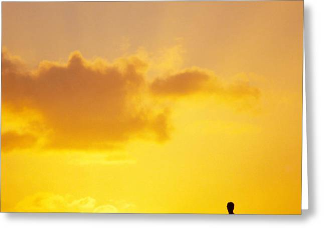 Break At Sunset Greeting Card by Joe Carini - Printscapes