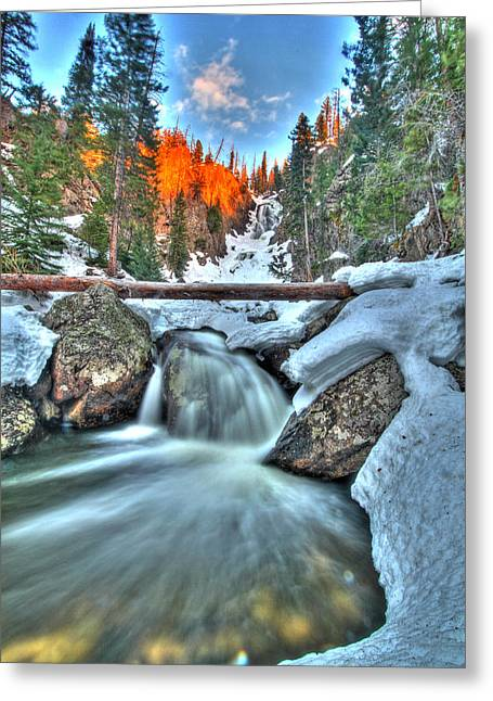 Fish Creek Greeting Cards - Break on Through Greeting Card by Scott Mahon
