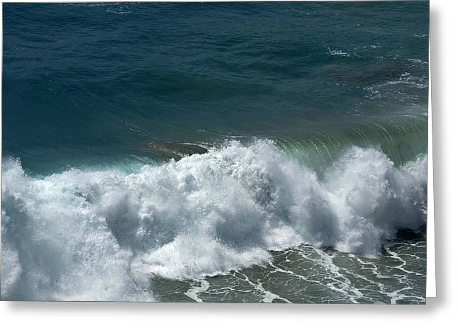 Big Sur Ca Greeting Cards - Breaker Aftermath Greeting Card by Gregory Scott