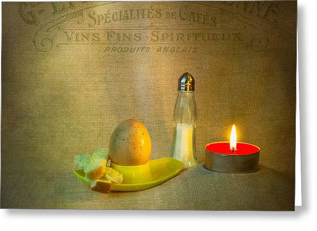 Egg-cup Greeting Cards - Breakfast Greeting Card by Ian Barber