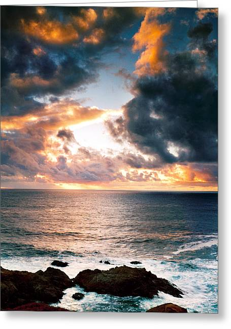 Coast Highway One Greeting Cards - Breaking Clouds Greeting Card by Edward Mendes